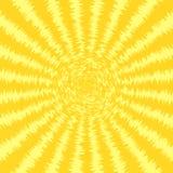 Sunbursten förgrovar gul bakgrund Vektorillustration EPS10 Arkivbilder