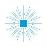 Sunburstramillustration Royaltyfri Fotografi