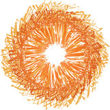 Sunbust anaranjado Fotografía de archivo