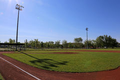 Suncast Baseball Field Royalty Free Stock Photo
