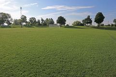 Suncast Soccer Field Royalty Free Stock Images