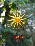 Suncatcher ornament. Sun crystal suncatcher ornament is hanging Royalty Free Stock Photography