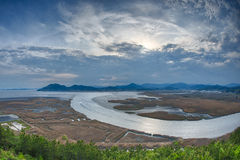 Suncheon Bay fisheye Royalty Free Stock Photo