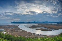 Suncheon zatoki fisheye Zdjęcie Royalty Free