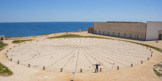 Sunclock in Algarve Fotografie Stock