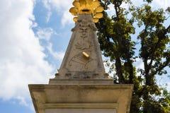 sunclock på en historisk rokoko parkerar Fotografering för Bildbyråer