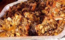 Suncoast BBQ-heftiger Schlag - Ereignis-Lebensmittel Collard Greens u. Schinken stockbilder