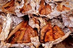 Suncoast BBQ-våldsamt slag - rökt multefiskar för händelsemat BBQ Royaltyfri Bild