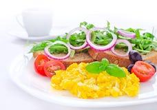 Sund äggfrukost Royaltyfri Bild