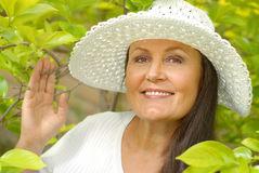 sund äldre kvinna Arkivbilder