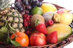 Sund ätabakgrund Isolerade olika frukter och grönsaker för matfotografi vit bakgrund arkivfoto