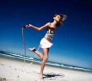 sund aktiv flicka arkivbilder