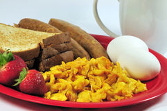 sund amerikansk frukost Royaltyfri Fotografi