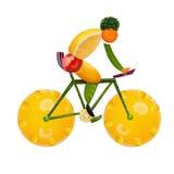 Sund cyklist Fotografering för Bildbyråer