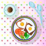 sund frukost vektor illustrationer