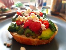 Sund frukost för lyxig grönsak Arkivfoto