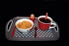 Sund frukost i morgonen Arkivfoto