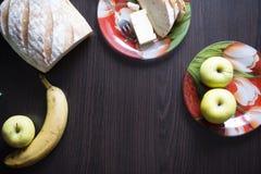 Sund frukost på tabellen Royaltyfri Fotografi