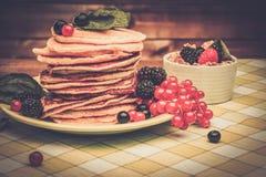 Sund frukoststilleben Arkivbilder