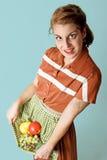 sund fruktflicka Arkivfoto