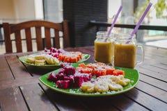 Sund fruktfrukost royaltyfria foton