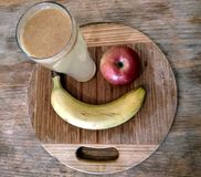 Sund fruktfrukost royaltyfri fotografi