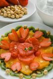 Sund fruktplatta Arkivbild