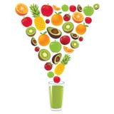 Sund grön vektor för fruktfruktsaft Arkivfoto