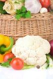 sund grönsak för korgmat Royaltyfri Bild