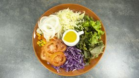sund hemlagad strikt vegetarianmat, vegetarian bantar, vitaminmellanmålet, mat och hälsobegreppet royaltyfri fotografi