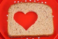 sund hjärta för bröd Arkivfoton