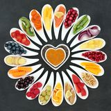 sund hjärta för mat arkivfoton