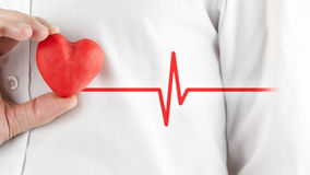 Sund hjärta och goda hälsor Royaltyfri Fotografi