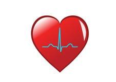 sund hjärtaillustration Arkivfoton