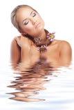 sund hud för hår royaltyfria bilder