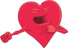 Sund illustration för hjärtatecknad filmvektor vektor illustrationer
