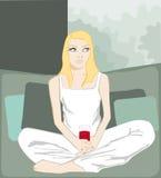 sund kvinna för drink Royaltyfria Foton