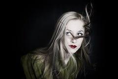 sund lång rörelse för härligt hår Fotografering för Bildbyråer