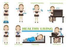 sund living vektor illustrationer