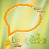 Sund-livsstil-bubbla-orientering-presentation Arkivbilder