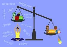 sund livsstil för begrepp Royaltyfri Fotografi