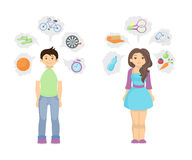 sund livsstil för begrepp vektor illustrationer