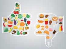 sund livsstil för begrepp Vi är vad vi äter vektor stock illustrationer