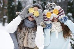 Sund livsstil i vinter Arkivfoto