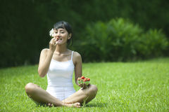 sund livsstiljordgubbekvinna Arkivbilder