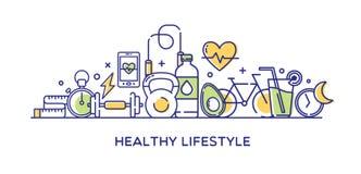 Sund livsstilvektorillustration Arkivbild
