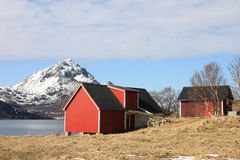 Sund in Lofoten's hayloft stock image