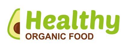 Sund logo för organisk mat stock illustrationer