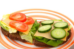 sund lunch Royaltyfria Bilder