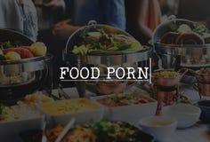 Sund lunch för läckerhet som äter middag fint läckert begrepp för mat Arkivfoto